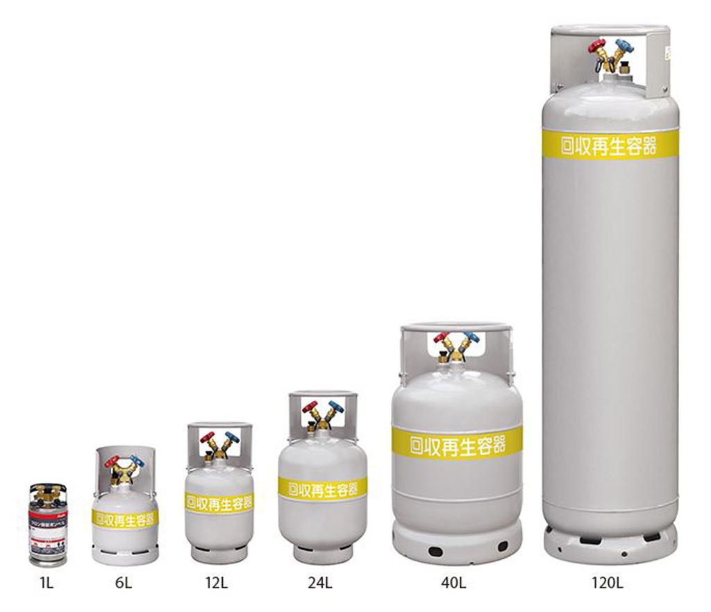 アサダ OP TF090 1/4X6L/フロンボンベ