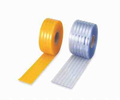 2-7751-02 カーテンシート透明ブルー巾300mm