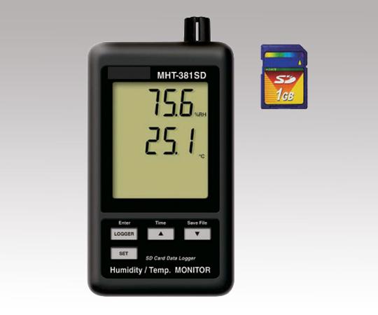 1-2517-01 データロガデジタルMHT-381SD(温・湿度計)