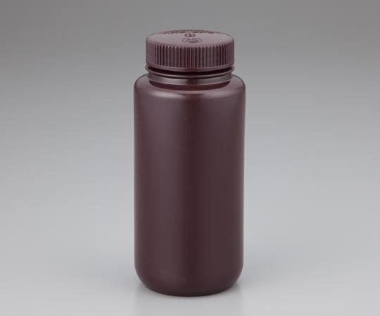 1-2687-06 広口試薬ボトル 褐色 1000mL