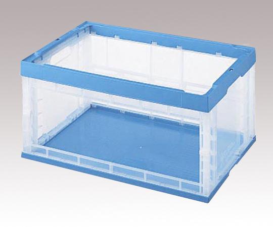 1-2845-02 窓アキ透明オリタタミコンテナ OC-75N
