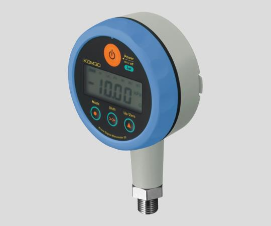 1-3559-01 高精度デジタル圧力計 KDM30-500kPaG-B-BL