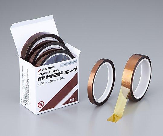 1-3993-06 ポリイミドテープ WS-190069-3 0.069mm×19.0mm×33m