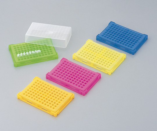 1-4309-02 PCRラック 青 本体・フタ×20個入