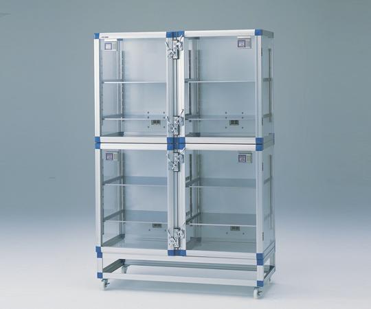 1-4693-12 IDデシケーター 1152×517×1765mm 強化プラスチック棚版