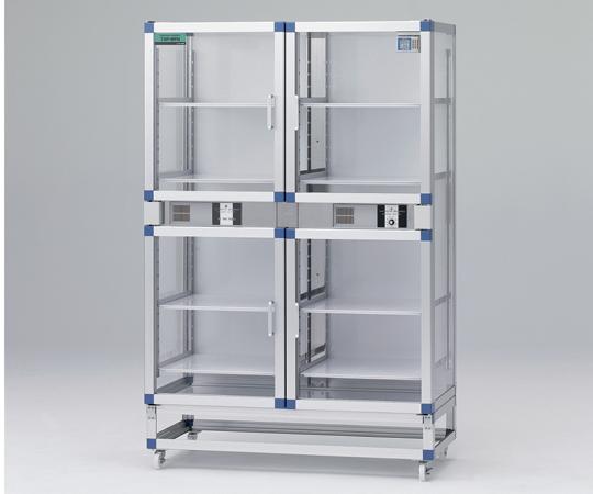 1-4844-03 オートドライデシケーターFNツイン 1152×524×1770mm 強化プラスチック棚板