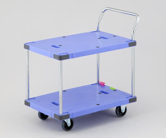 1-5530-02 静音樹脂運搬車 ボタンブレーキ付