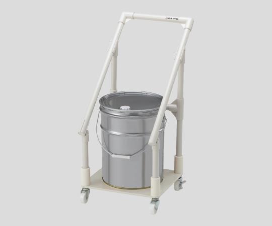 1-6083-05 廃液回収トレーワゴン ペール缶1ヶ用