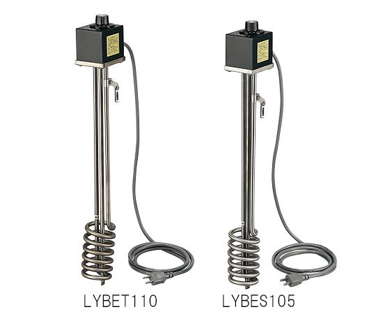 1-8024-12 サーモスタット付投込みヒーター 特殊耐蝕鋼チタン 500W