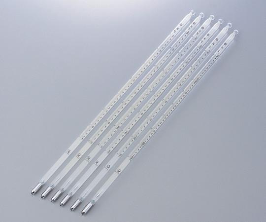 1-9775-02 試薬試験用温度計(日本薬局方温度計) No.2 40~100℃
