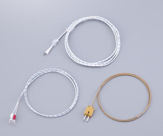 1-9930-14 被覆熱電対(K熱電対:デュープレックス) DG-K-5m-コネクタ