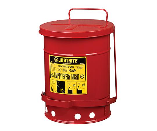 2-1063-01 耐火ゴミ箱 J09100