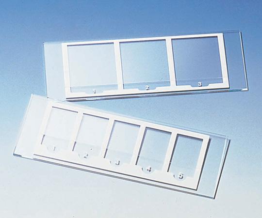 2-4022-01 検鏡プレート (3窓タイプ)