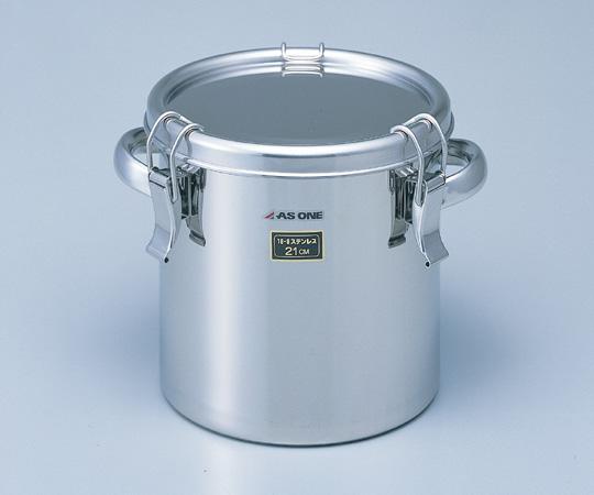 2-8182-01 耐食性に優れた把手付き密閉式タンク 10L