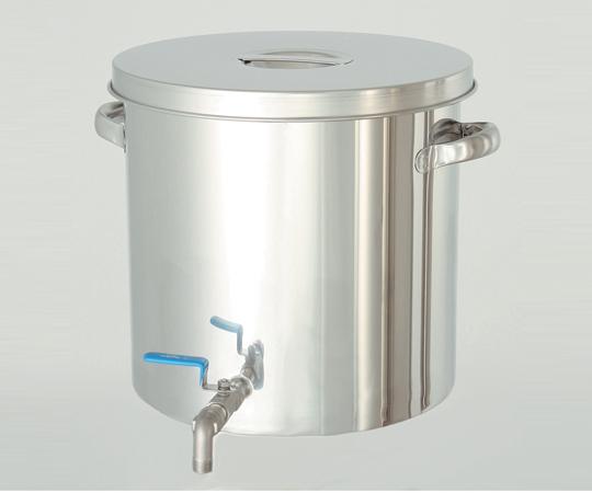 2-8225-02 耐薬品性に優れた ステンレスバルブ付タンク 7L