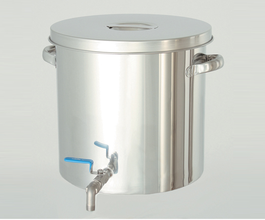 2-8225-06 耐薬品性に優れた ステンレスバルブ付タンク 25L