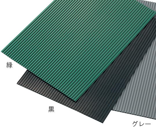 2-9252-02 ゴムマット(スチレン・ブタジエンゴム) 黒 1m×5m×3t
