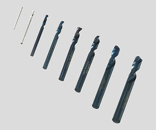 2-9517-18 卓上旋盤ショートドリル 8本セット Compact3/Compact7用