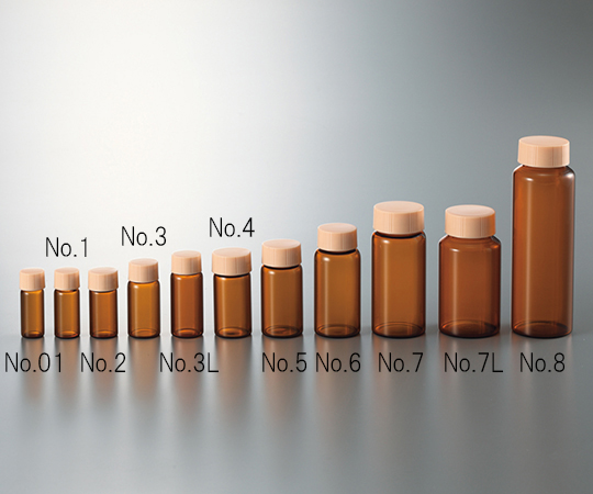 3-4947-11 CCスクリュー管 褐色 ブルーキャップ 110mL