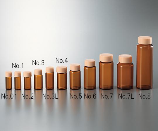 3-4949-10 CCスクリュー管 褐色 グリーンキャップ 60mL