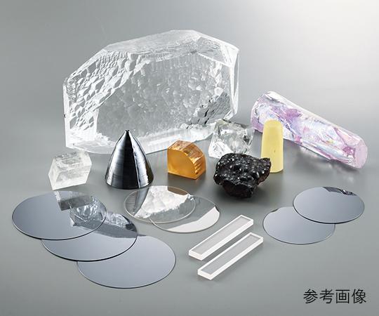 3-4955-01 単結晶基板 人工水晶基板 片面鏡面 方位 Z(0001) 10×10×0.5mm 1枚