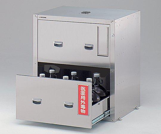 3-5017-22 セフティキャビネット ガロン瓶用 スタンダード 705×600×800mm