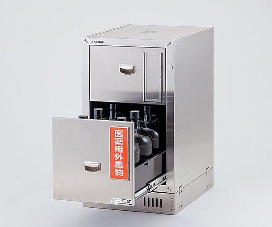 3-5823-36 セフティキャビネット ガロン瓶用 庫内エポキシコーティング 455×600×700mm