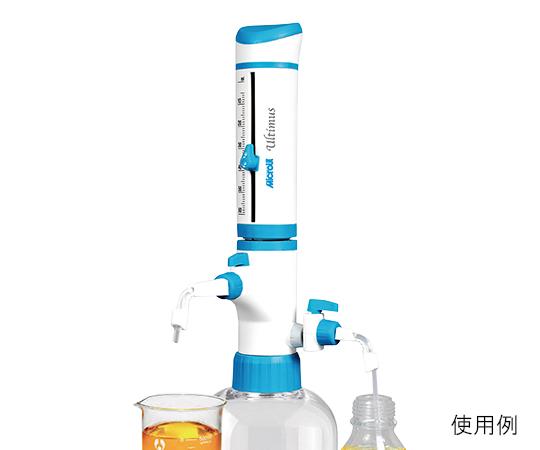 3-5996-01 ボトルトップディスペンサー 吸引ノズル・泡抜機構付 ULT-2.5