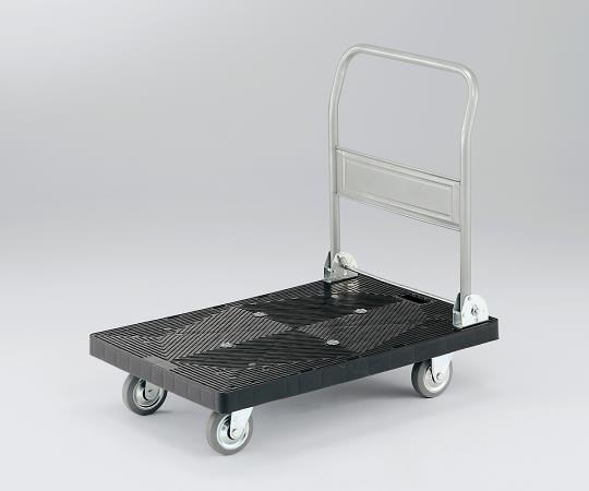 3-6563-01 静音樹脂台車 耐荷重150kg 708×452×885