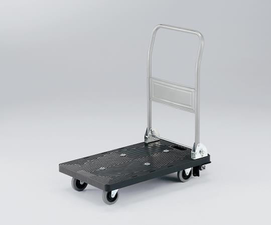 3-6564-01 静音樹脂台車 フットブレーキ付き 耐荷重150kg 708×452×885