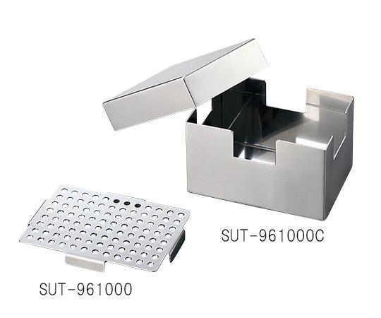 3-6619-02 ステンレスチップラック 1000μLチップ96本収納ラック