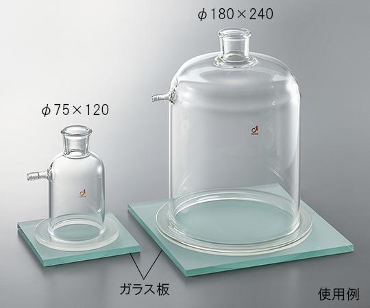 3-6645-13 ガラス板(胴内径φ150用)