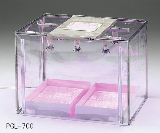 3-6654-02 ランプ式(エコノミー) 1000×500×500mm 植物育成フード