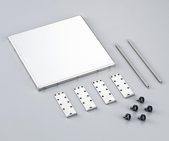 3-6766-01 ラボジャッキ用ホルダー 170×170×61mm 1式(本体+固定具)