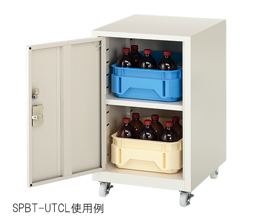 3-6772-02 薬品トレーユニット(UT-Lab.) 400×450×652 右扉