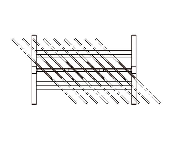3-6787-02 斜め掛けハンガーラック 1200×400×1800