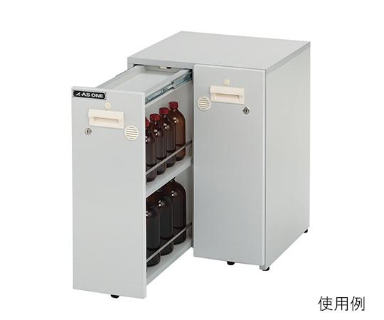 3-6794-02 木製薬品保管ユニット(UT-Lab.) 471×478×650
