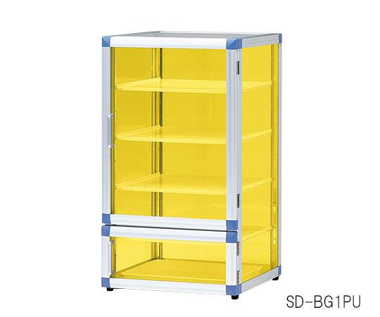3-6818-01 スタンダードデシケーターBG(UVC) 574×517×765 強化プラスチック棚・ゴム足付き