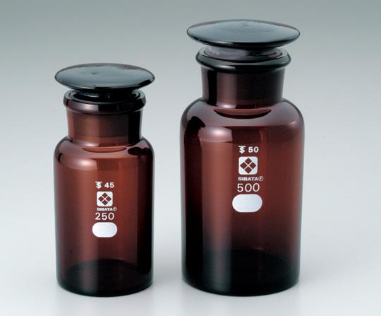 4-5032-06 共通摺合わせ広口試薬瓶 茶褐色 1000mL