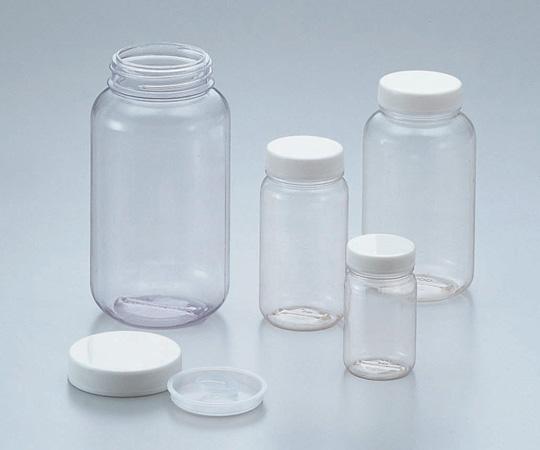 5-031-53 クリヤ広口瓶(透明エンビ製) 500mL ケース販売100本入