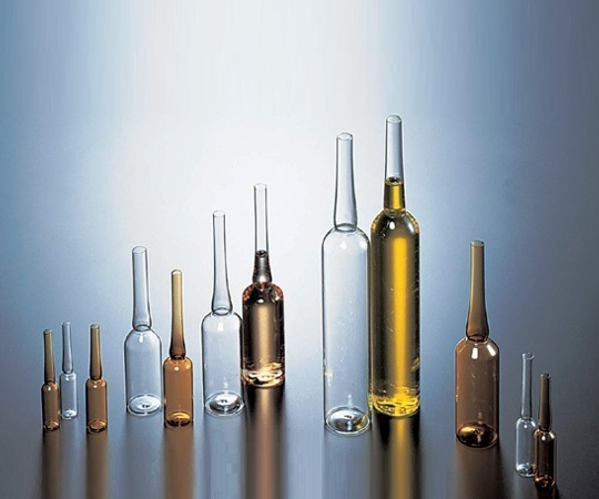 5-124-06 アンプル管(硼珪酸ガラス製) 50mL 白色 100本入