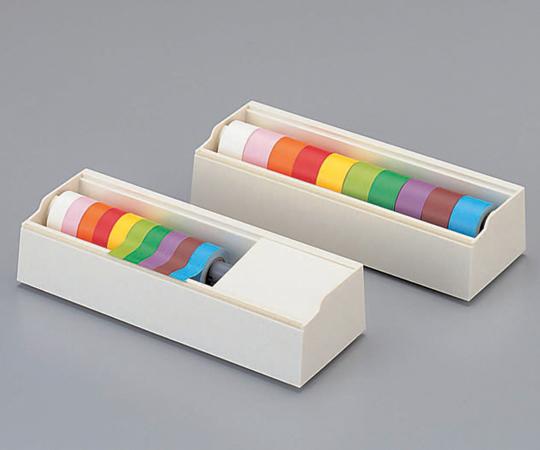 6-691-02 カラーテープ 25mm幅 10色セット