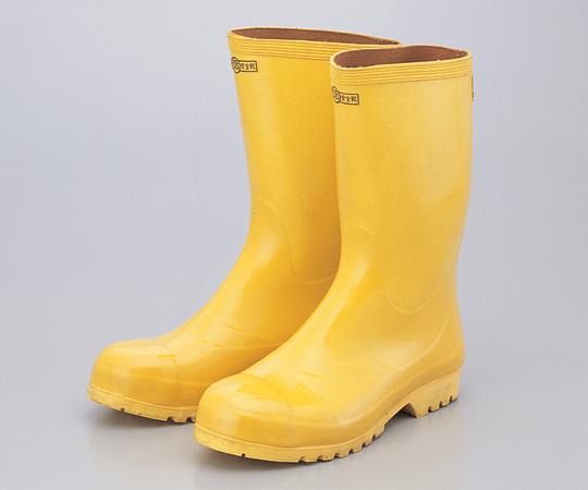 6-9275-02 安全ゴム長靴 24.5cm 黄色