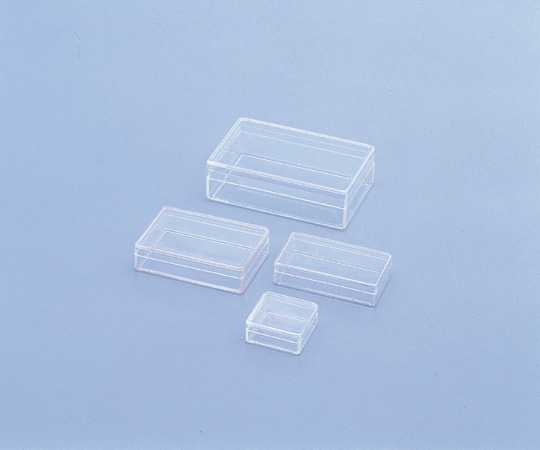 7-2104-02 SCC スチロール角型ケース 2型 (純水洗浄処理済み)