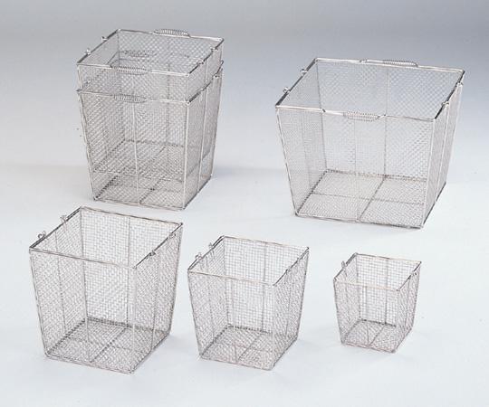 7-5332-01 ステンレス角型洗浄カゴ(テーパ付) 特大 400角(320角)×300mm
