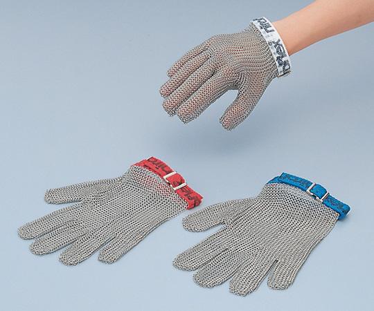8-5323-02 ステンレスメッシュ手袋 5本指 M