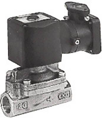 ー品販売  CKD パイロット式2ポート弁(防爆・d2G4) AD11E4-25A-03T-AC100V:GAOS 店-DIY・工具