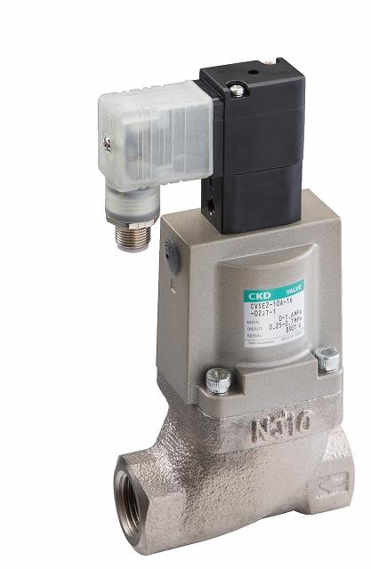 CKD 低圧損形クーラント電磁弁搭載3方弁 CVS3E-25A-03-02HS-1