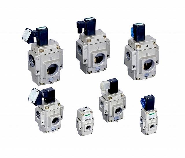 CKD 空気用3ポート電磁弁(ノーマルクローズ) NP13-40A-12C-2