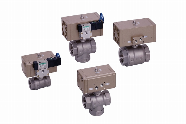 CKD コンパクトロータリバルブ CHB-V1-20-EC2-S-AC100V